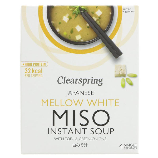 Clearspring Mellow White Miso Soup + Tofu (4x10g)