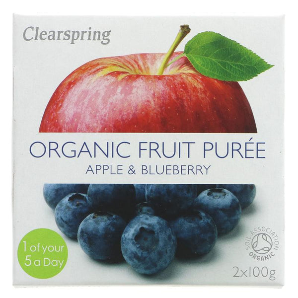 Clearspring Apple & Blueberry Puree - Organic (2 x 100g)