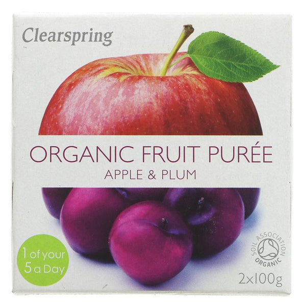 Clearspring Apple & Plum Puree - Organic (2 x 100g)