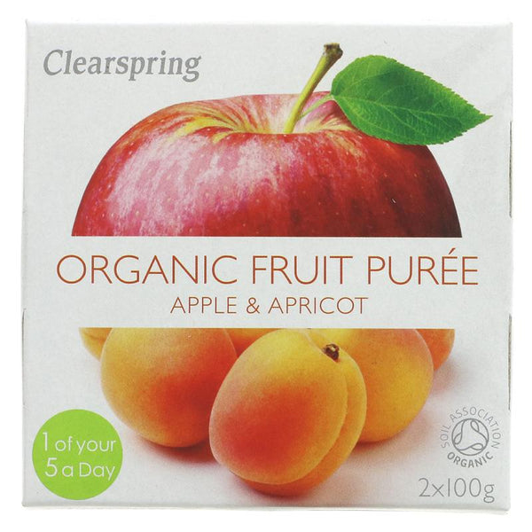 Clearspring Apple & Apricot Puree - Organic (2 x 100g)