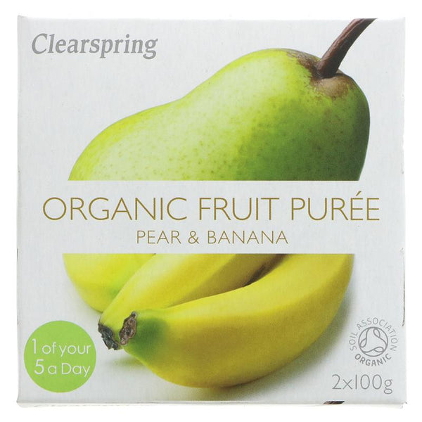 Clearspring Pear & Banana Organic Puree (2 x 100g)