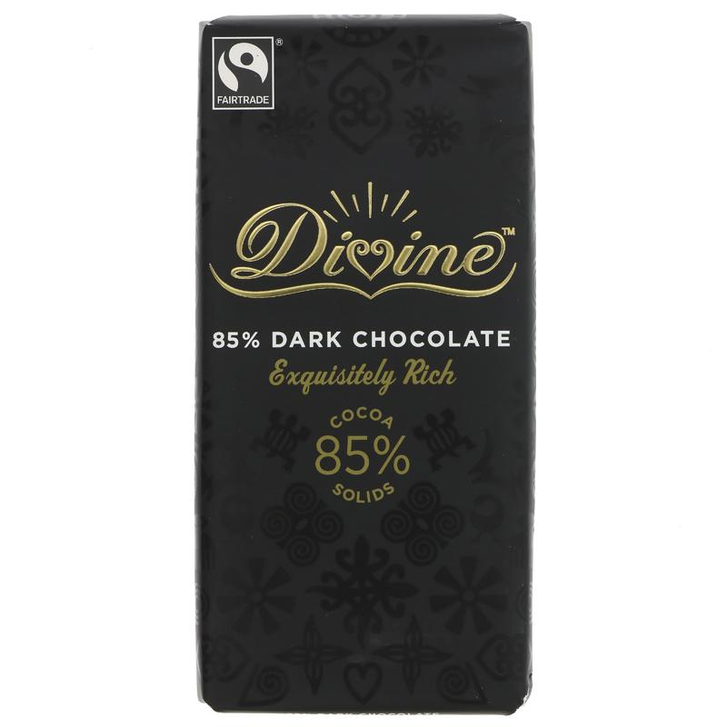 Divine 85% Dark Chocolate (90g)