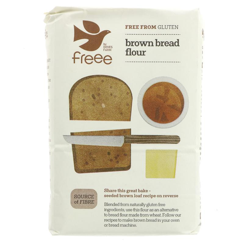Doves Farm Gluten Free Brown Bread Flour  (1kg)
