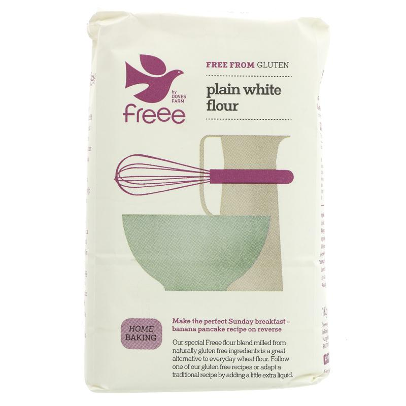 Doves Farm Gluten Free Plain White Flour  (1kg)