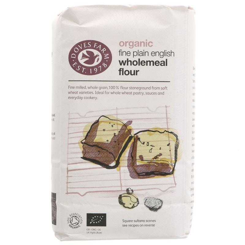 Doves Farm Fine Plain Wholemeal Flour (1kg)