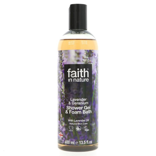 Faith Lavender & Geranium Foam Bath (400ml)