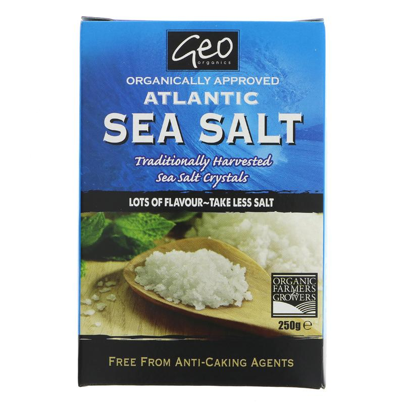 Geo Organics Atlantic Sea Salt Crystals (250g)