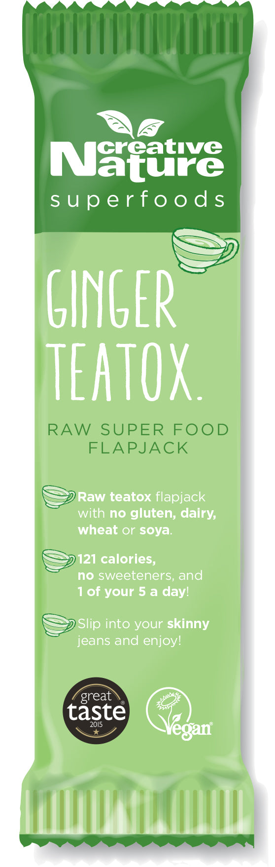 Creative Nature Ginger Teatox Detoxing Flapjack Bar (38g)