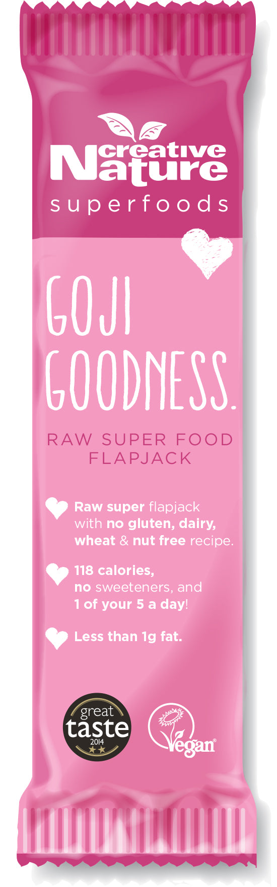 Creative Nature Goji Goodness Energy Flapjack Bar (38g)