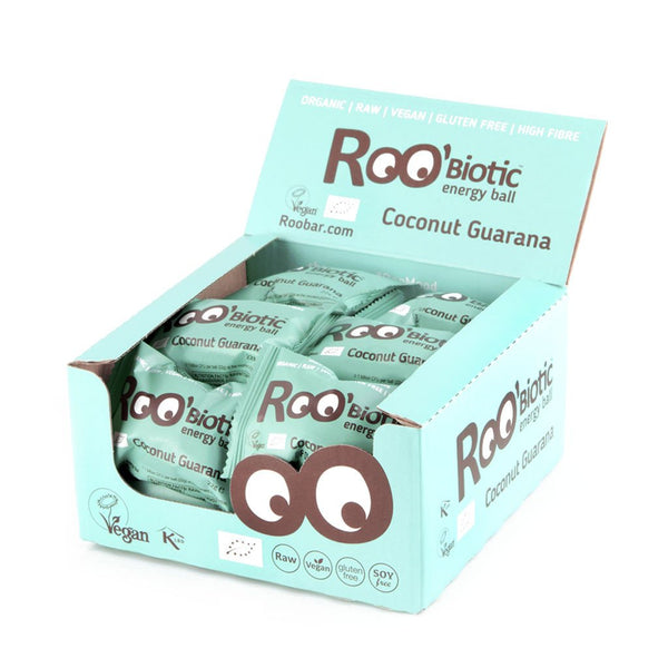 Roobar Roobiotic Energy Balls • Coconut Guarana (22g)