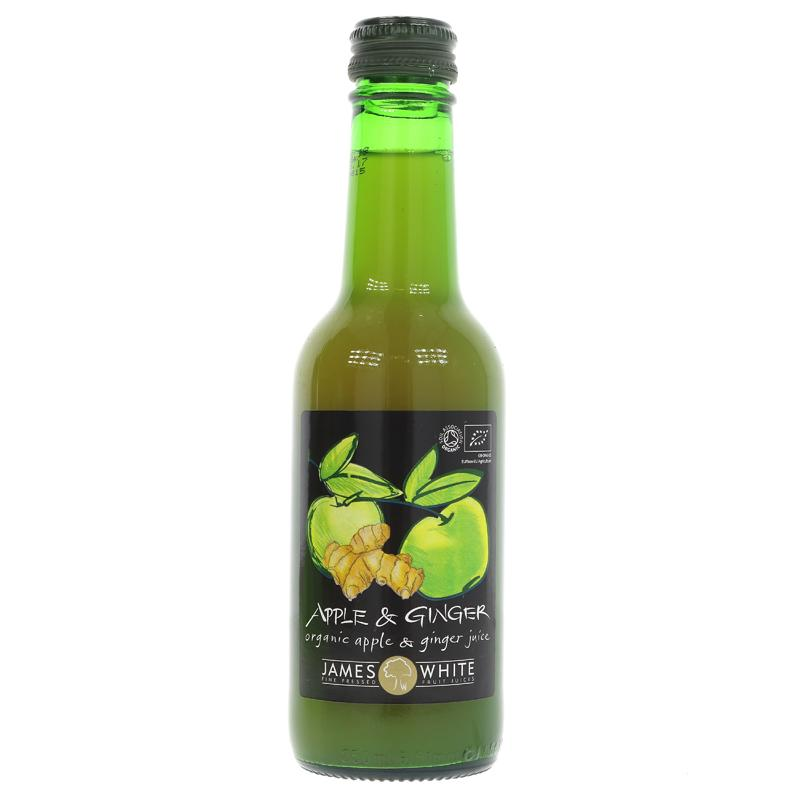 James White Apple & Crushed Ginger - Organic (250ml)