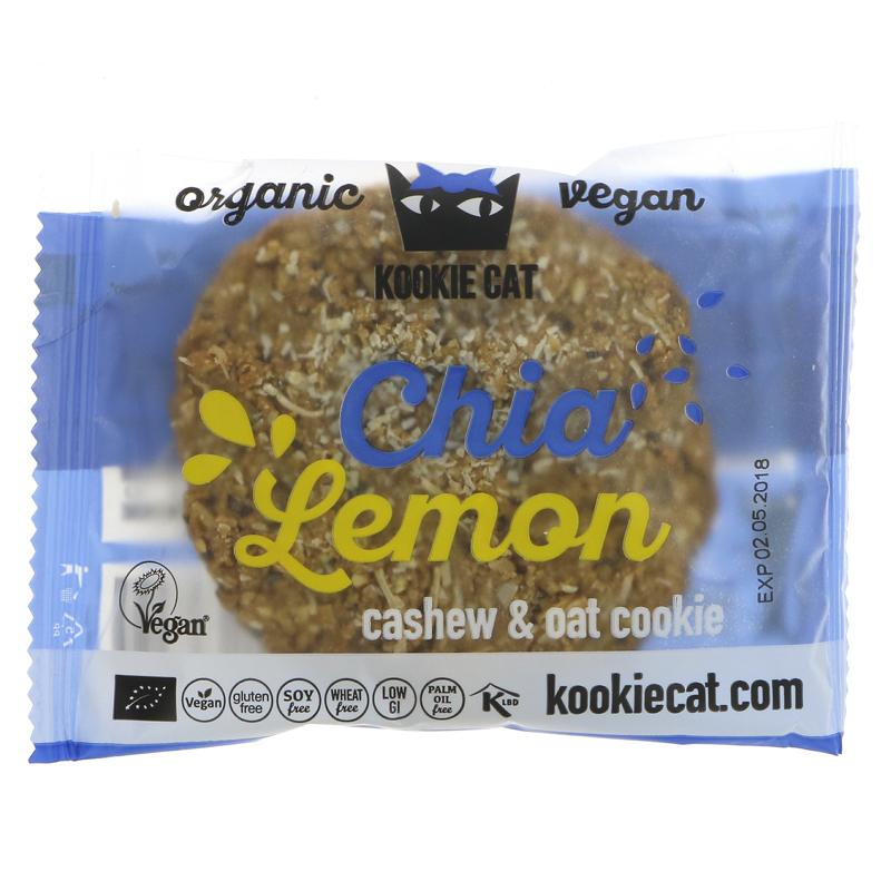 Kookie Cat Chia & Lemon Cookie (50g)