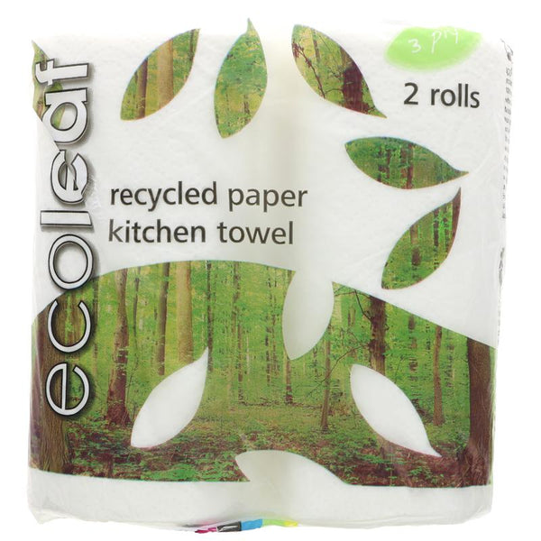 Ecoleaf From Suma Ecoleaf 3 Ply Kitchen Towels (2 Rolls)
