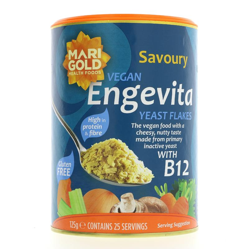 Engevita Yeast Flakes with Vitamin B12 (125g)