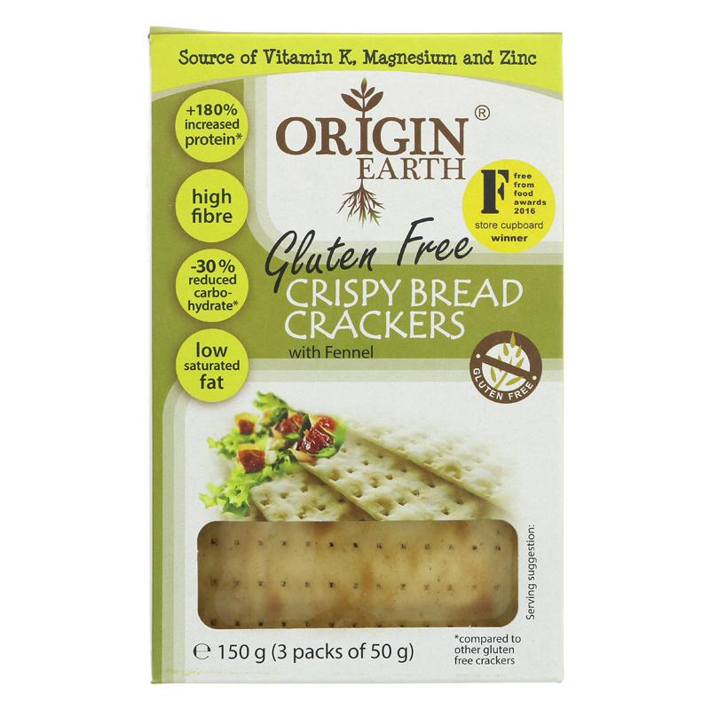 Origin Earth Gluten Free Crackers Fennel (150g)