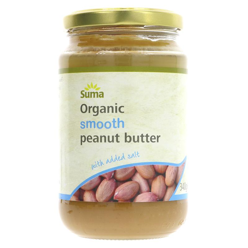 Suma Peanut Butter, Smooth + Salt  (340g)