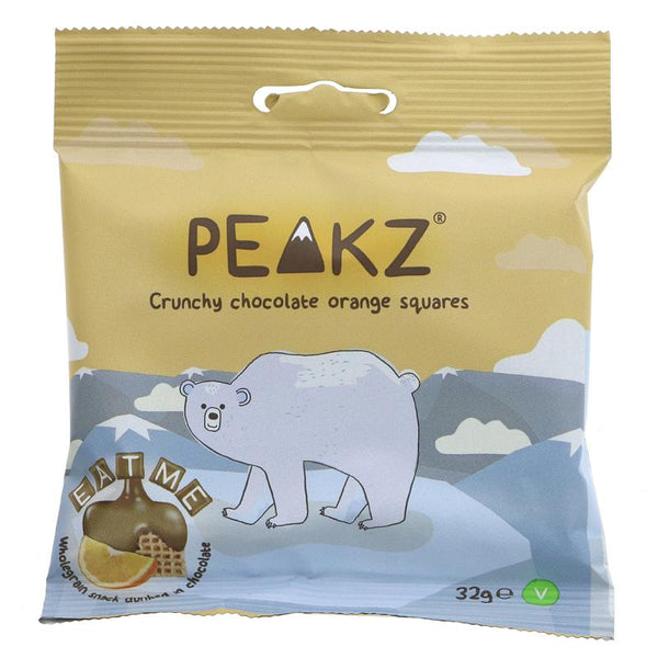 Peakz Choc Orange covered Squares (32g)