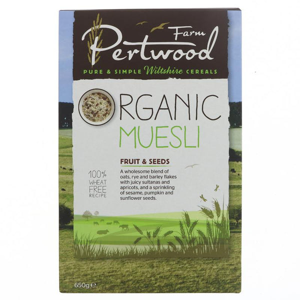 Pertwood Organic Farm Muesli Fruit and Seed (650g)