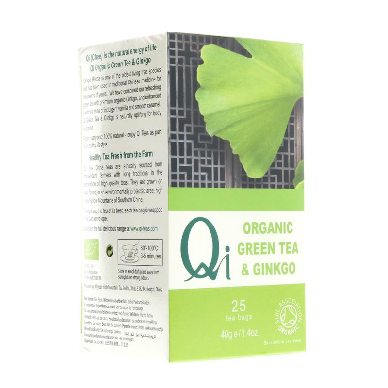 Qi Fairtrade Ginkgo Green Tea (25 bags)