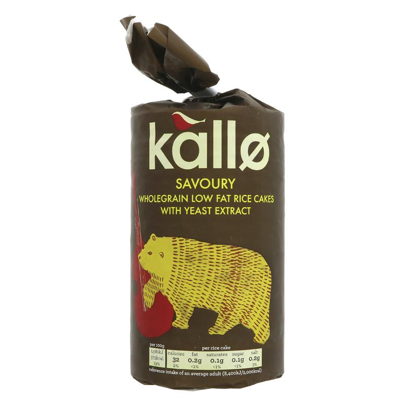 Kallo Savoury Thick Rice Cakes (130g)