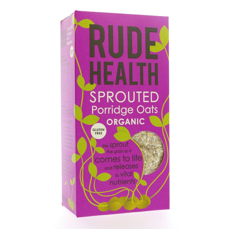 Rude Health Foods Sprouted Porridge Oats Organic Gluten Free (500g)
