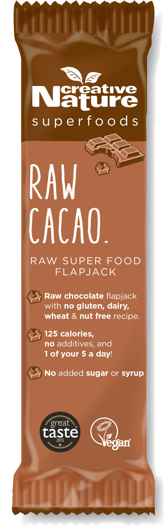 Creative Nature Raw Cacao Energy Flapjack Bar (38g)