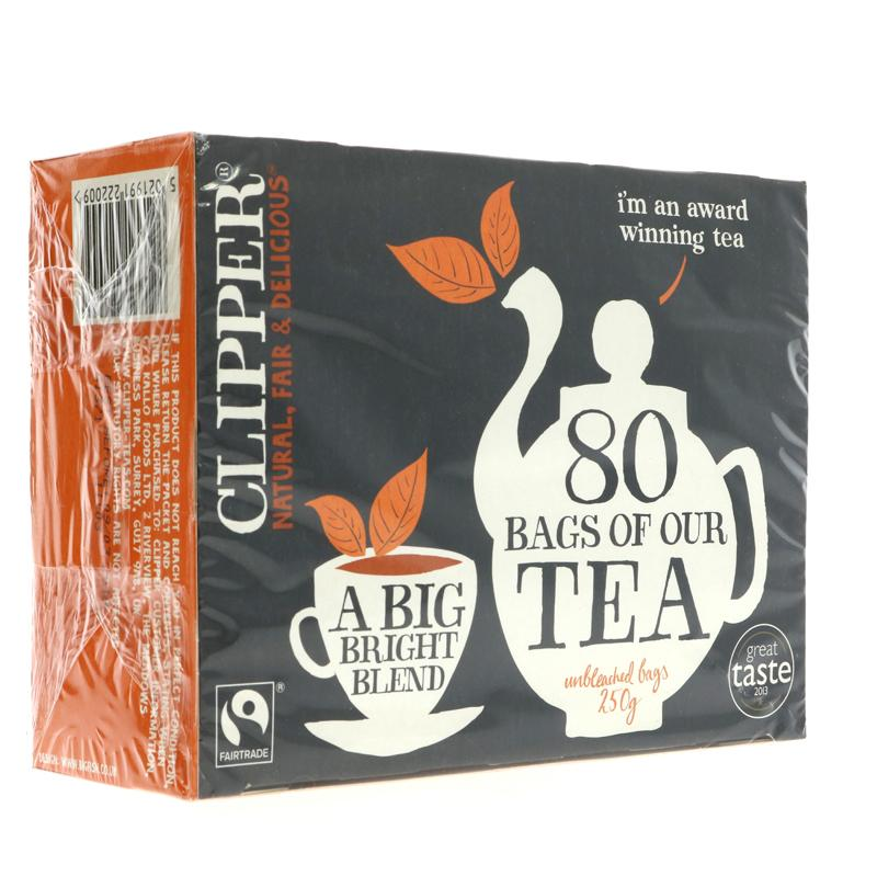Clipper Fairtrade 80 Teabags (80 bags)