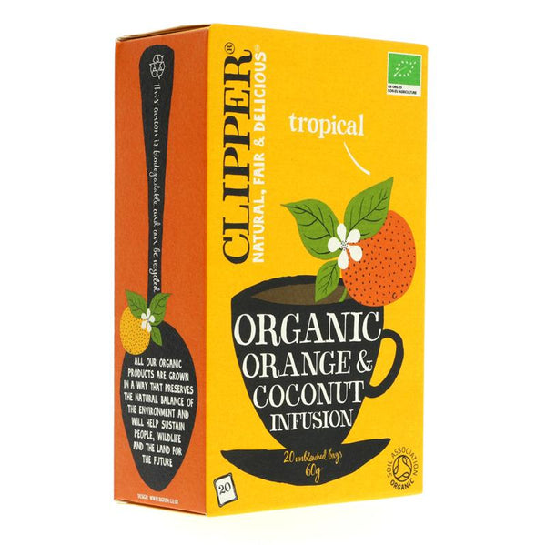 Clipper Orange & Coconut - Organic (20 bags)