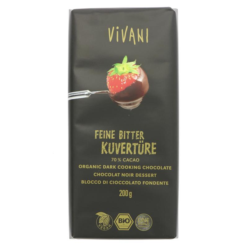 Vivani Organic Chocolate Dark Cooking Chocolate (200g)