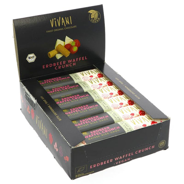 Vivani Organic Chocolate Strawberry Wafer Crunch (35g)