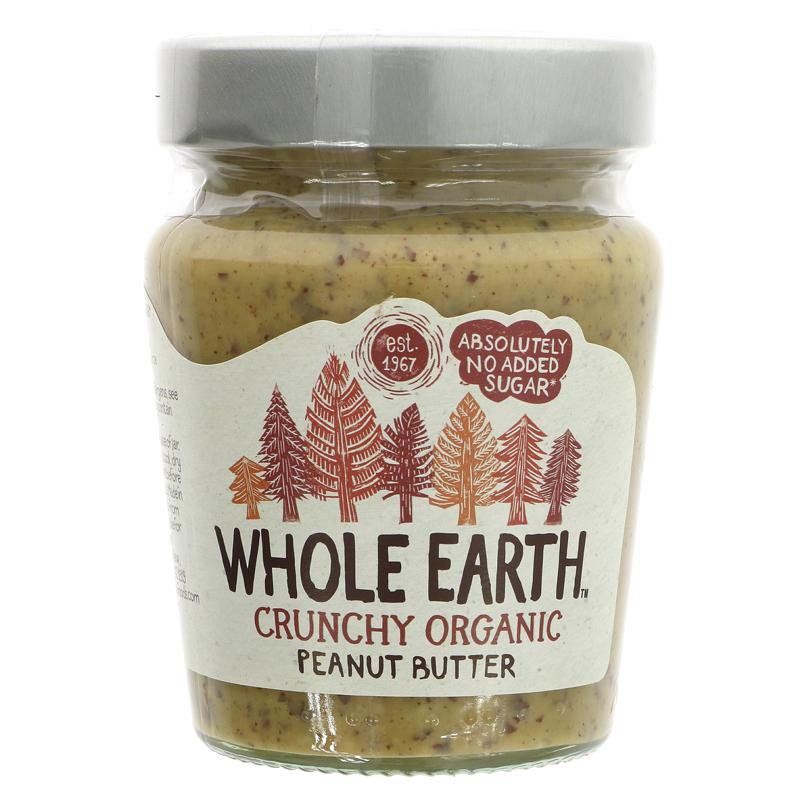 Whole Earth Peanut Butter - Crunchy Organic (227g)