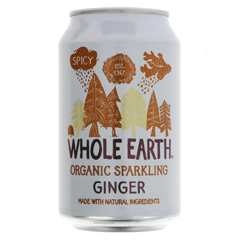 Whole Earth Sparkling Ginger - Organic (330ml)