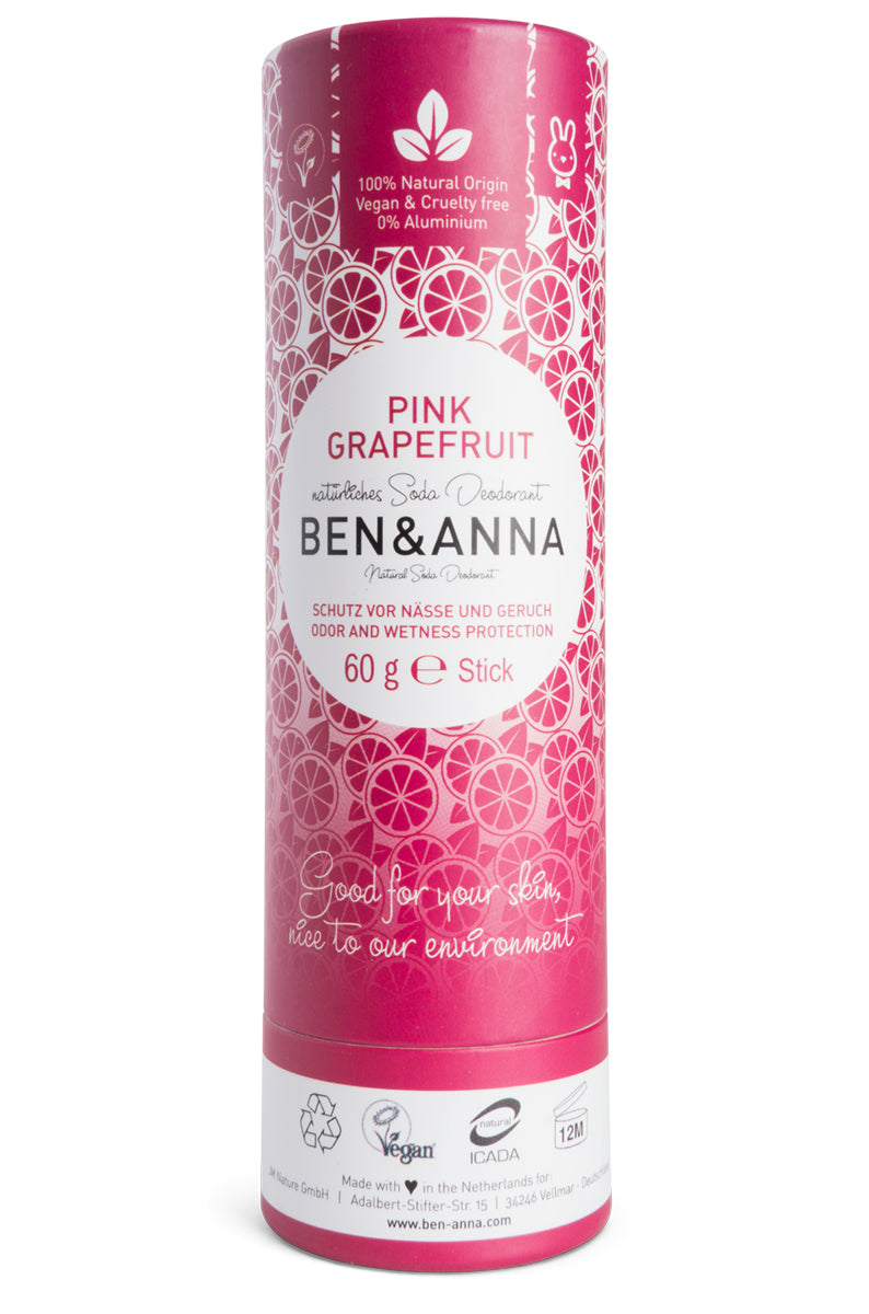 Pink Grapefruit Natural Deodorant - Paper Tube (60g)