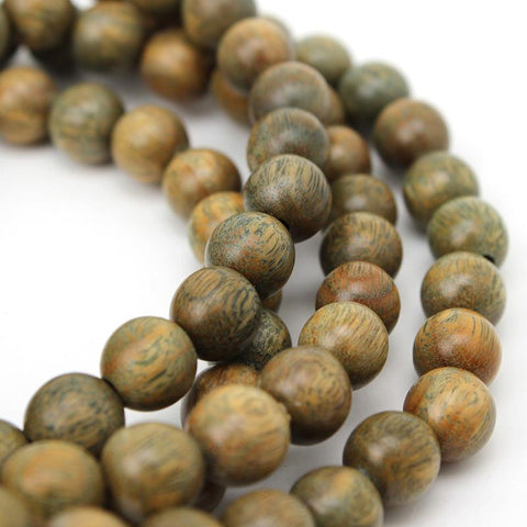 108 Natural Green Sandalwood Prayer Mala - Yoga Wear Outlet