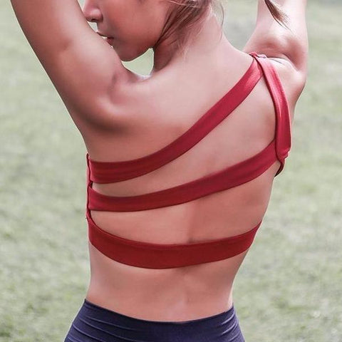Off-Shoulder Sports Bra