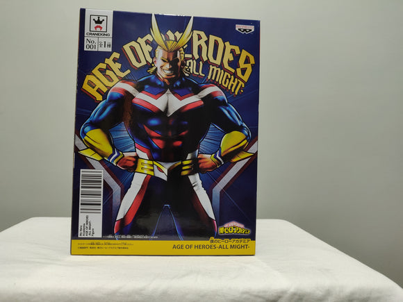 Banpresto My Hero Academia Age of Heroes All Might front of box
