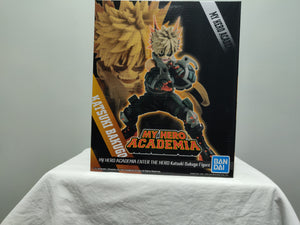 Banpresto My Hero Academia Enter the Hero Katsuku Bakugo front of box