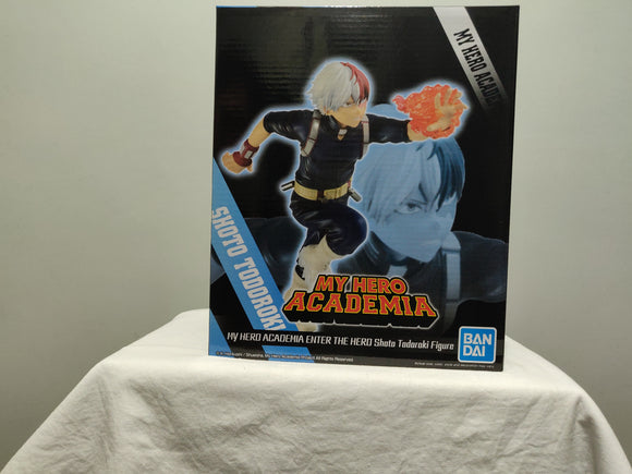 Banpresto My Hero Academia Enter the Hero Shoto Todoroki front of box