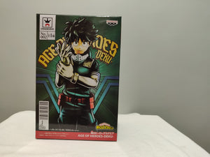Banpresto Age of Heroes - My Hero Academia - Deku front of box
