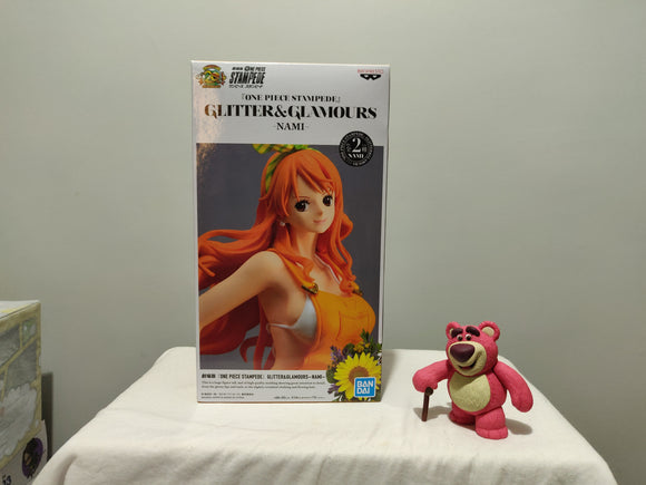 Banpresto Glitter and Glamour One Piece Stampede - Nami ver A front of the box