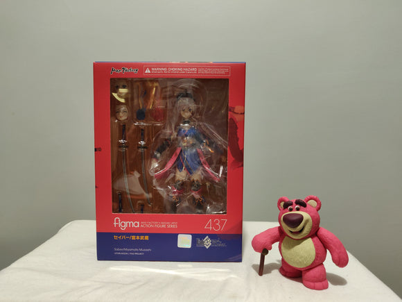 Figma 437 Fate/Grand Order - Saber/Miyamoto Musashi front of the box