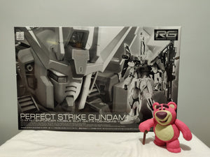 Bandai - RG 1/144 PERFECT STRIKE GUNDAM top of the box