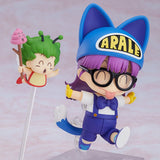 Nendoroid 1009 Dr.SLUMP ARALE CHAN - Arale Norimaki: Cat Ears Ver. & Gatchan front right happy walking posr