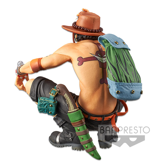 Banpresto King of Artist One Piece - Portgas D Ace Special ver (A) back left pose
