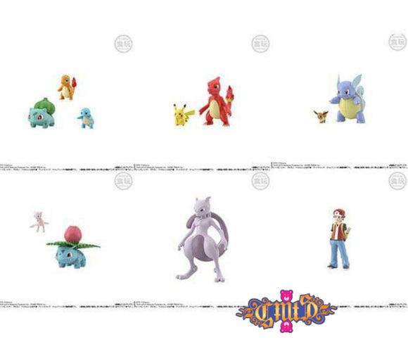 Bandai - Pokemon Scale  World Kanto (Set of 11) main pose
