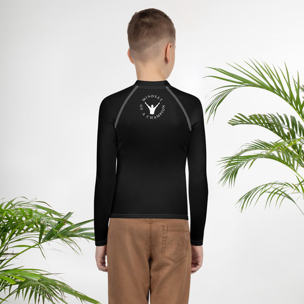 ChasDre Mindset of a Champion Boys Youth Rash Guard