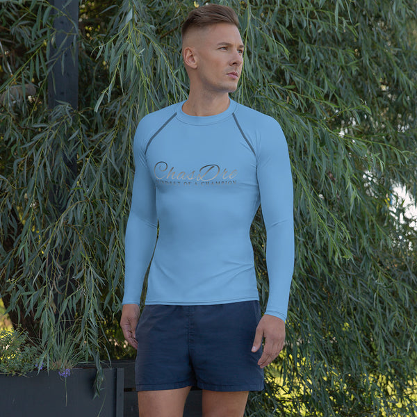 ChasDre Mindset of a Champion Men's Rash Guard Blue Long sleeve