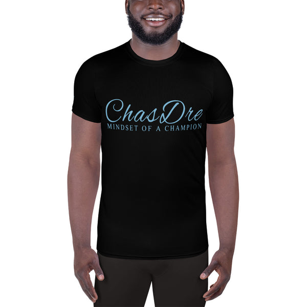 ChasDre Mindset of a Champion All-Over Print Men's Athletic T-shirt