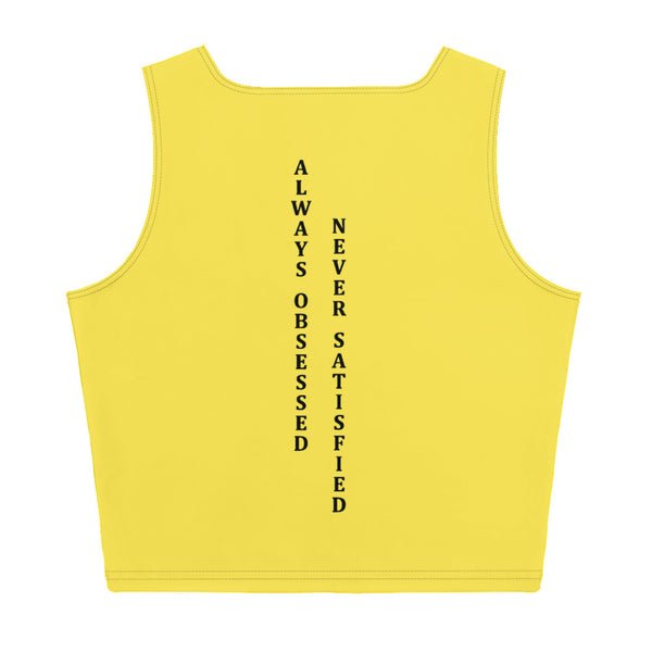 ChasDre Mindset of a Champion Sublimation Cut & Sew Crop Top Yellow/Black