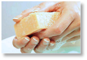 using bar soap